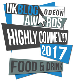 UK Blog Awards 2017 - Food & Drink - Highly Commended Award